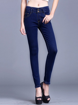 Ericdress Simple Skinny Jeans