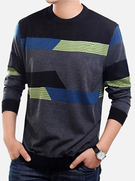 Ericdress Color Block Vogue Pullover Men's Sweater