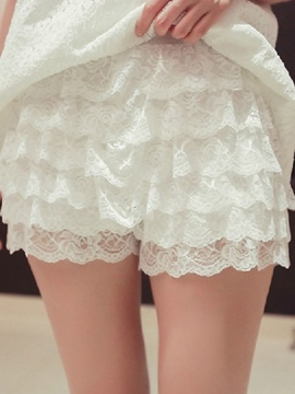 Ericdress Simple Lace Shorts