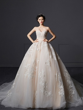 Ericdress Beautiful Appliques Sweetheart Ball Gown Wedding Dress
