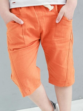 Ericdress Solid Color Knee Length Boys Pants