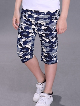 Ericdress Color Block Camouflage Boys Pants