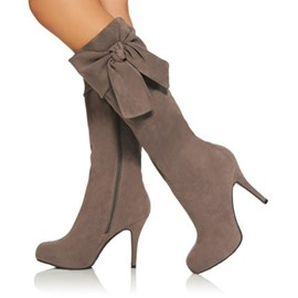 Ericdress Bowknot Nubuck Over Knee High Boots