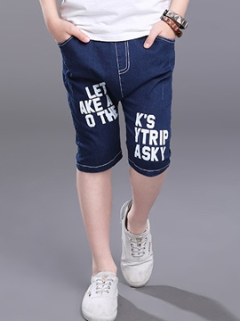 Ericdress Letter Knee Length Boys Pants