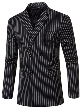 Ericdress Double-Layer Vogue Stripe Men's Blazer