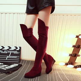 Ericdress Suede Elevator Heel Knee High Boots