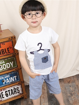 Ericdress Short Sleeve Patchwork Boys Outfits