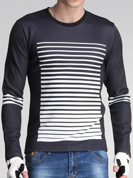 Ericdress Casual Long Sleeve Stripe Men's T-Shirt