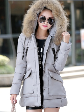 Ericdress Loose Thick Hooded Coat