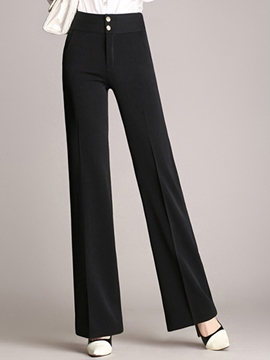 Ericdress OL Solid Color Straight Pants
