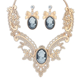 Ericdress Vintage Metal Hollow Jewelry Set