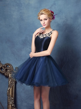 Ericdress Scoop Ballkleid Perlen Mini Homecoming Kleid