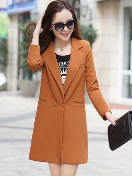 Ericdress Slim Solid Color Polo Blazer
