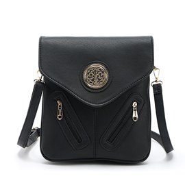 Ericdress Leisure Solid Color Embossed Crossbody Bag