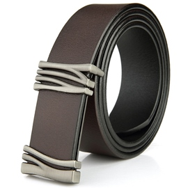 Ericdress Korean Men's Cowhide Smooth Belt