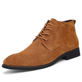 Ericdress Rount Toe Lace up Men's Martin Boots