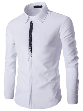 Ericdress Casual Tie Print Vogue Slim Men's Shirt