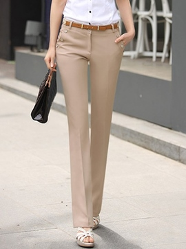 Ericdress Simple Solid Color Casual Pants