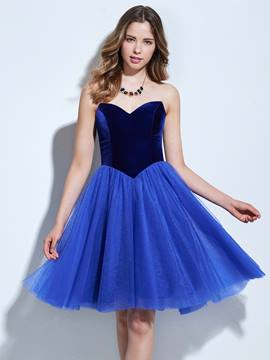 Ericdress A-Line Sweetheart Draped Pick-Ups Knee-Length Cocktail Dress