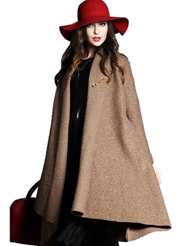 Ericdress Solid Color Loose Casual Coat
