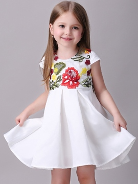 Ericdress Embroidery Patchwork Expansion Girls Dresses