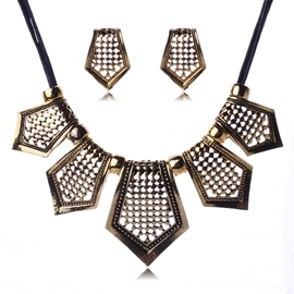 Ericdress Golden Alloy E-Plating Jewelry Set