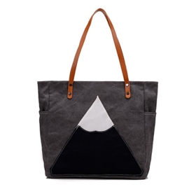 Ericdress Simple Geometric Canvas Tote Bag