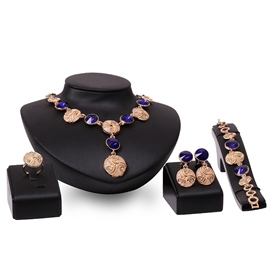 Ericdress Purple Gemstones Inlaid Alloy Jewelry Set