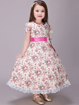 Ericdress Pastoral Falbala Pleated Girls Dresses