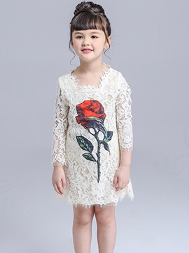 Ericdress Lace Girls Dress