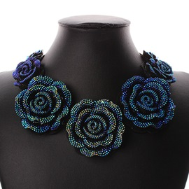 Ericdress Blue Enchantress Diamante Necklace