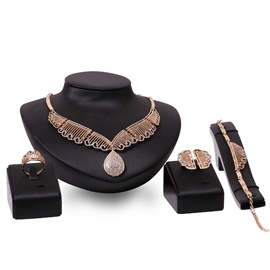 Ericdress Water Drop Shaped Hollow Jewelry Set