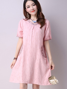 Ericdress Summer Loose Soild Color Casual Dress