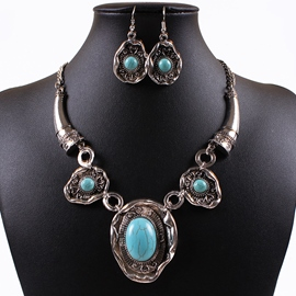 Ericdress Alloy Turquoise Inlaid Jewelry Set
