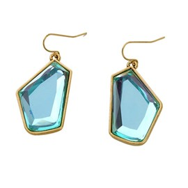 Ericdress Irregular Blue Pendant Earrings