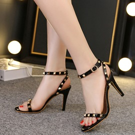 Ericdress Rivets Open Toe Stiletto Sandals