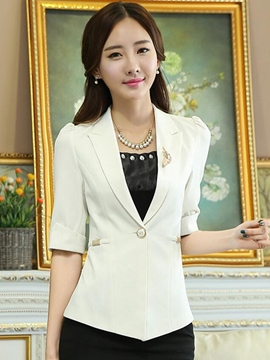 Ericdress Plain Polo Slim Blazer