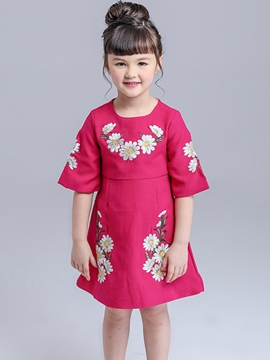 Ericdress Half Sleeve Girls Dress