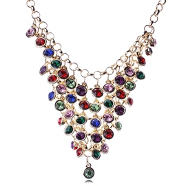 Ericdress Exquisite Gemstones Tassels Necklace