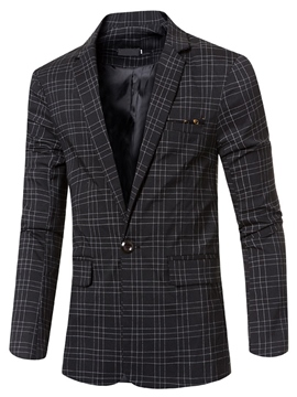 Ericdress Plaid Vogue One Button Slim Men's Blazer