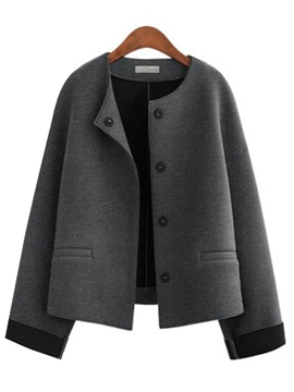 Ericdress Loose Single-Breasted Casual Jacket