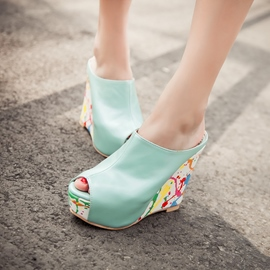 Ericdress Special Print Peep Toe Mules Shoes