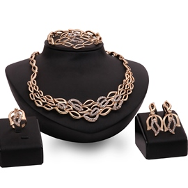 Ericdress Gold Plated Four Pieces Jewelry Set
