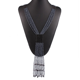 Ericdress Bohemian Beads Tassel Necklace