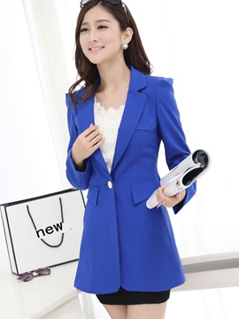Ericdress Plus Size Plain Blazer