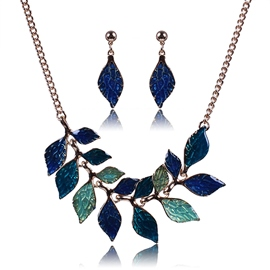 Ericdress Colored Leaves Alloy Jewelry Set