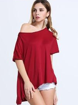 Ericdress Loose Oblique Casual T-Shirt