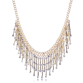 Ericdress Rhinestone Inlaid Tassel Necklace