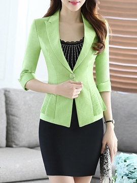 Ericdress Simple Blazer Suit