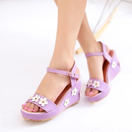 Ericdress Lovely Applique Wedge Sandals